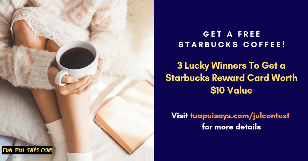 Starbucks $10 Value Reward Card Giveaway Singapore